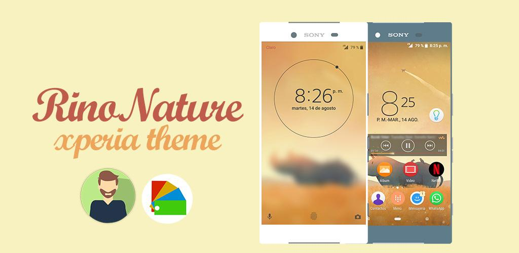 RinoNature Theme Xperia 0 Apk Download - com guettodesign