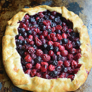 Cranberry and Blueberry Galette.