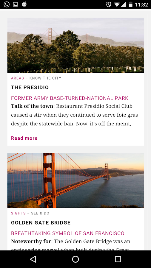 San Francisco City Guide- screenshot
