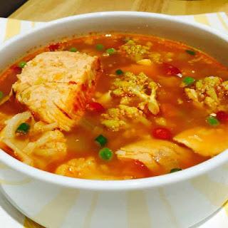Organic Veg & Salmon Soup