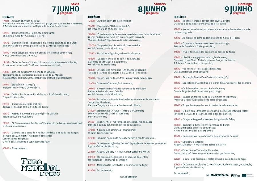 Programa da Feira Medieval de Lamego – 2019
