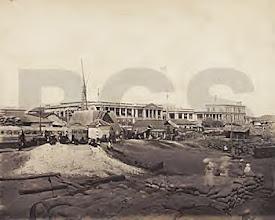Photo: Madras port - view from Rajaji salai.