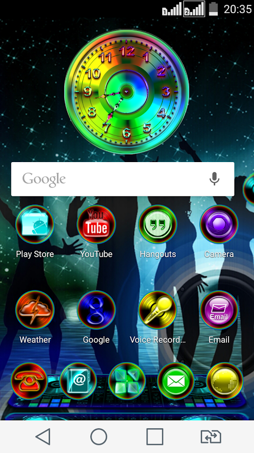 Next Launcher 3D Theme ClubMix- screenshot