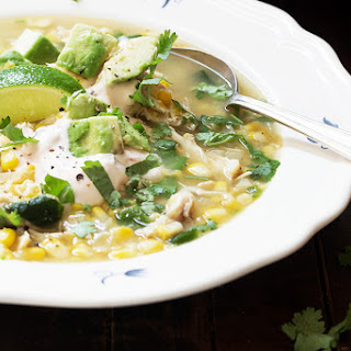Easy Rotisserie Chicken and Corn Soup.
