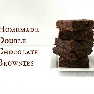 Homemade Double Chocolate Brownies.