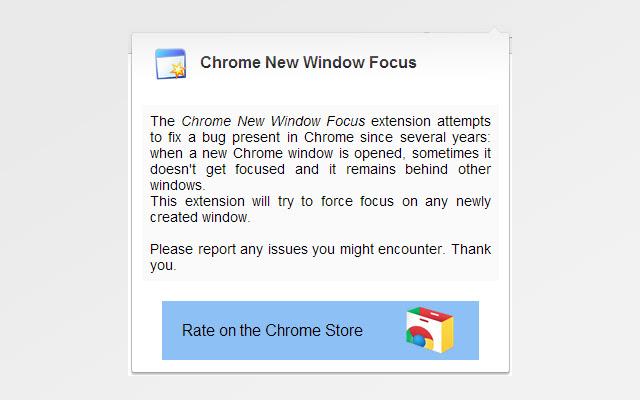 Chrome New Window Focus