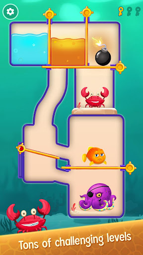 Save the Fish - Pull the Pin Game 10.3 screenshots 8