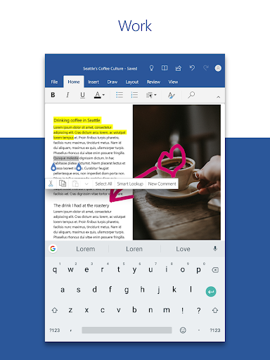 Screenshot for Microsoft Word: Write, Edit & Share Docs on the Go in United States Play Store