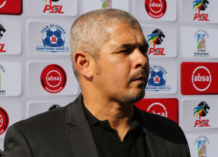 Golden Arrows coach Clinton Larsen during the Absa Premiership match against Maritzburg United at Harry Gwala Stadium on August 04, 2018 in Pietermaritzburg, South Africa.