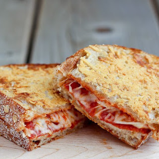 Parmesan Crusted Pepperoni Pizza Grilled Cheese (VIDEO).