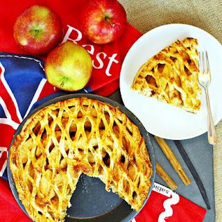 Spiced Apple Lattice Pie.