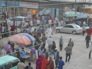 Photo: Street scene in downtown Hargeisa