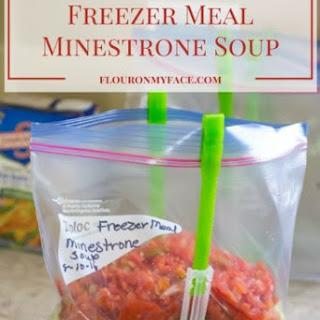Freezer Meals Minestrone Soup