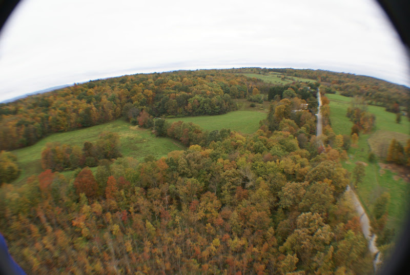 Photo: Fall landscape from above