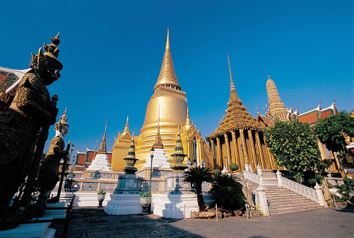 Thailand-temple-of-the-emerald-buddha - The Temple of the Emerald Buddha is on the grounds of the Grand Palace in Bangkok, Thailand.