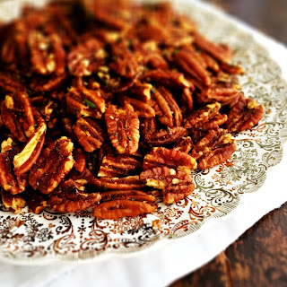 Sweet & Spicy Rosemary Pecans