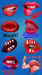 Lippen Sticker Packs für WhatsApp - WAStickerApps Screenshot