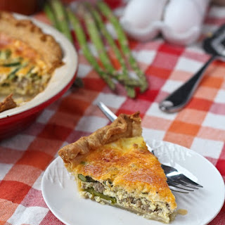 Turkey Sausage and Asparagus Quiche