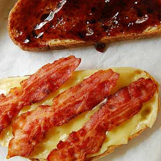 Bacon, Cheese and Mustard Open-Faced Sandwich Recipe