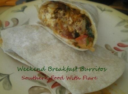 Weekend Breakfast Burritos Recipe