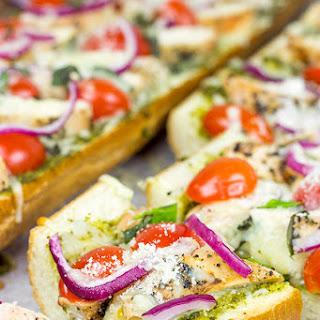 Pesto French Bread Pizza with Grilled Chicken Recipe