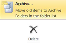 2010 archive and delete options layout