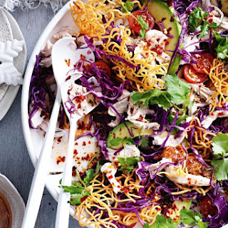Turkey, Avocado And Crunchy Noodle Salad