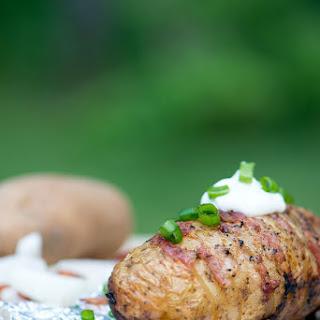 Bacon & Onion Campfire Hasselback Potato