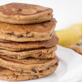 Peanut Butter Banana Chocolate Chip Oatmeal Pancakes