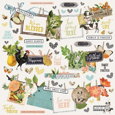 Simple Stories Sticker Sheet 12X12 - SV Farmhouse Garden Banner
