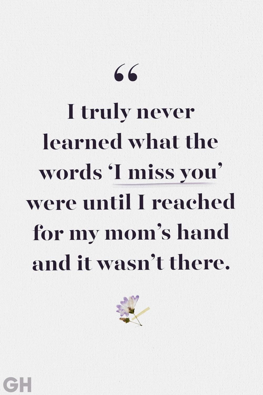 I miss my mom