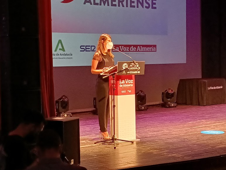 En la gala, Ángeles Martínez, vicepresidenta segunda de la Diputación de Almería y diputada de Bienestar Social, Igualdad y Familia.