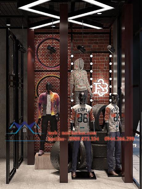 thiết kế shop thời trang nam h2t xuân thủy 2