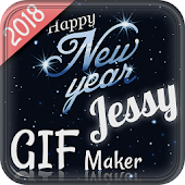 New year Wishing Gif Maker 2018