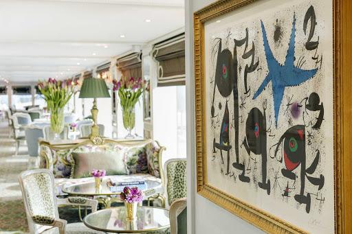 ss-catherine-van-gogh-lounge.jpg -  Artwork in the Van Gogh Lounge aboard Uniworld's S.S. Catherine.
