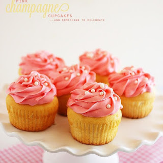 Pink Champagne Cupcakes.