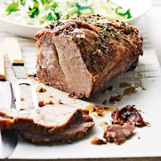 Slow-roasted Pork Neck With Cabbage And Spinach Slaw