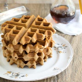 Vegan Gluten-Free Chai Teff Waffles