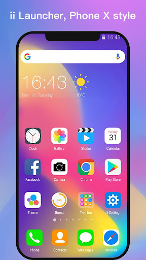 ii Launcher for Phone X & Phone 8  screenshots 1