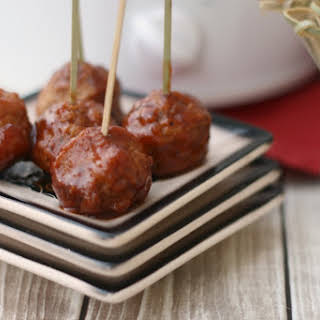 Slow Cooker Cranberry Barbecue Turkey Meatballs.