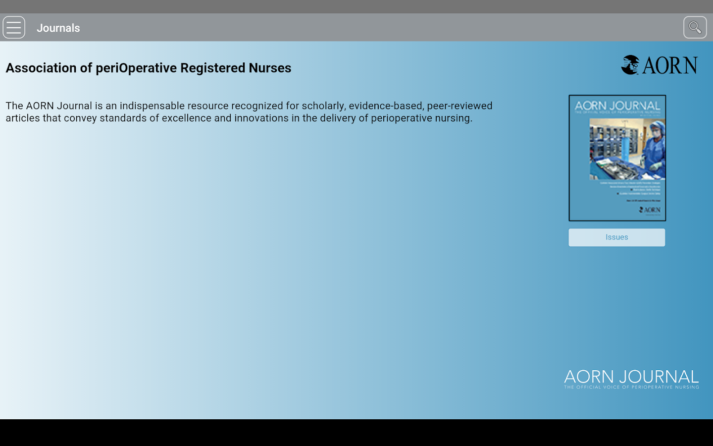 Association of periOperative Registered Nurses- screenshot