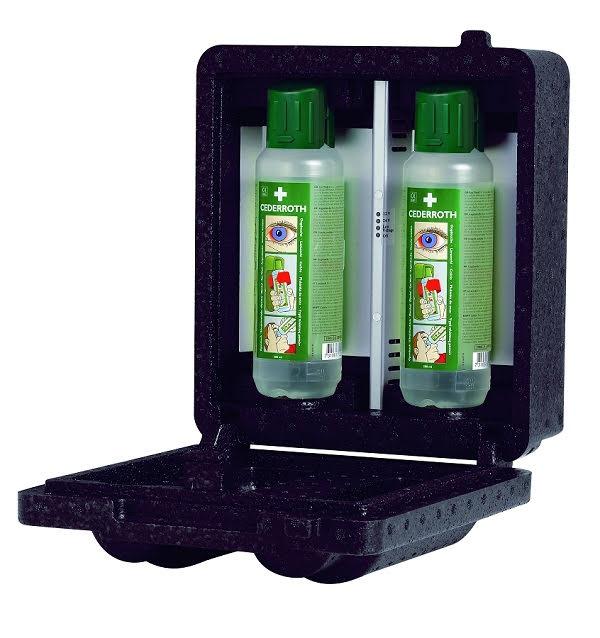 Värmeskåp för 2 st Cederroth Ögonduschflaskor