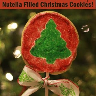 Nutella Filled Christmas Cookie Pops! Yum!