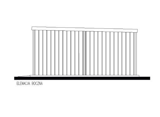 projekt GB58 Garaż Blaszany Jednostanowiskowy