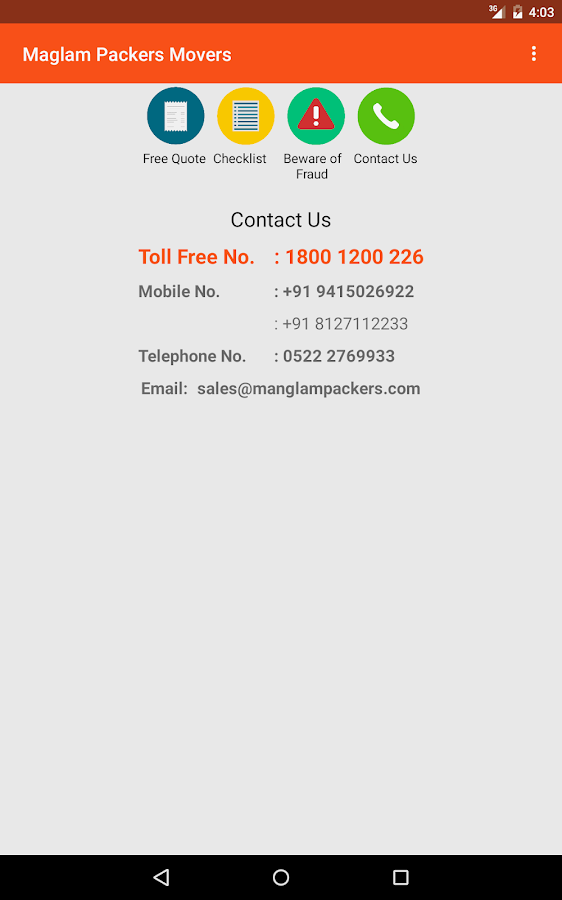 Manglam Packers & Movers- screenshot