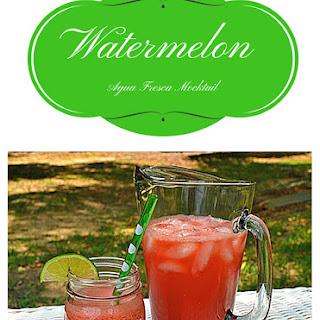 Watermelon Agua Fresca Mocktail.