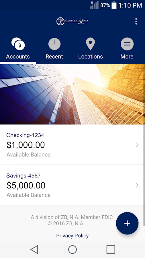 CBT Business Mobile Banking- screenshot