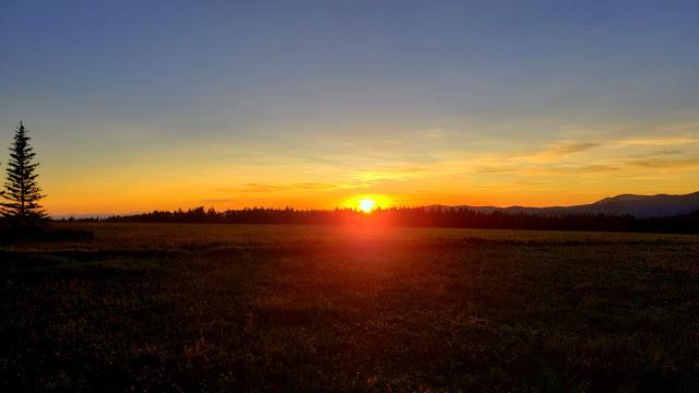 Big Flat sunset