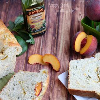 Basil Bread with Peach Swirl