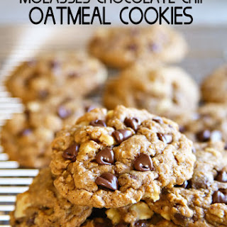 Molasses Chocolate Chip Oatmeal Cookies.